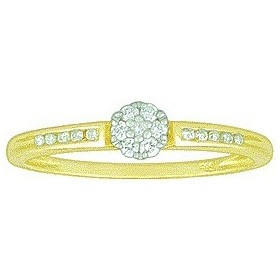 Bague solitaire diamants