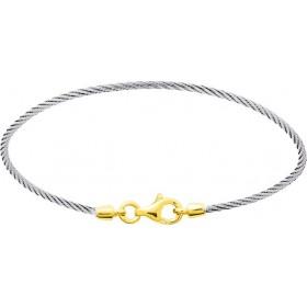 Bracelet  bébé cable  et or