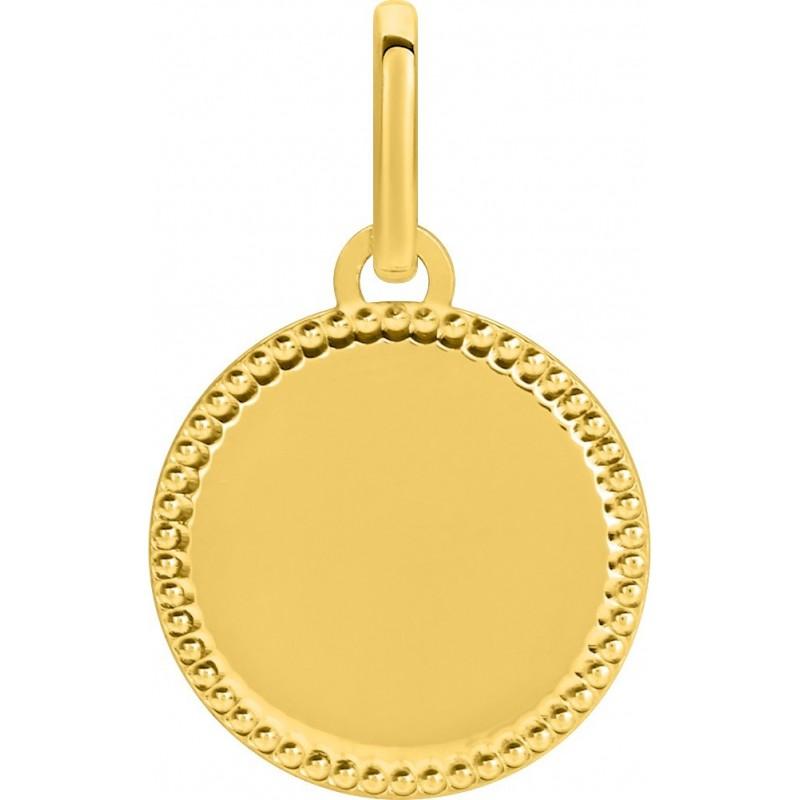 Pendentif plaque ronde