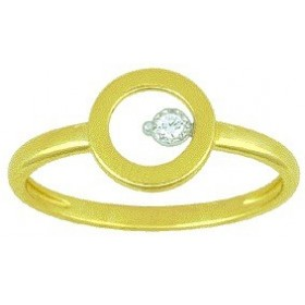 Bague Cercle de Vie brillant or jaune