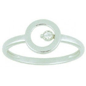 Bague brillant or blanc