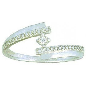 Bague solitaire brillant en or blanc
