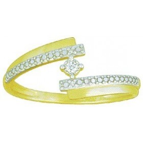 Bague solitaire brillant en or jaune