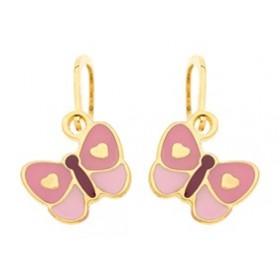 Boucle d'oreille Dormeuse Papillon