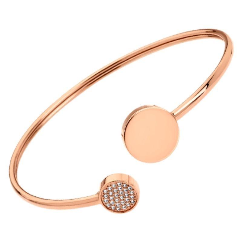 Bracelet Jonc Acier Rose Lotus Style