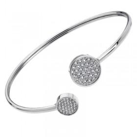 Bracelet Jonc Acier Lotus Style